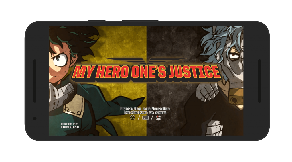 My Hero Ones Justice APK Android Start Screen